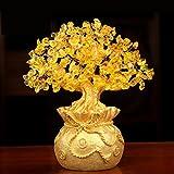 Bwinka Feng Shui - Árbol de dinero para oficina o hogar, decoración de Feng Shui, árbol de dinero de cristal para riqueza y buena suerte (grande)