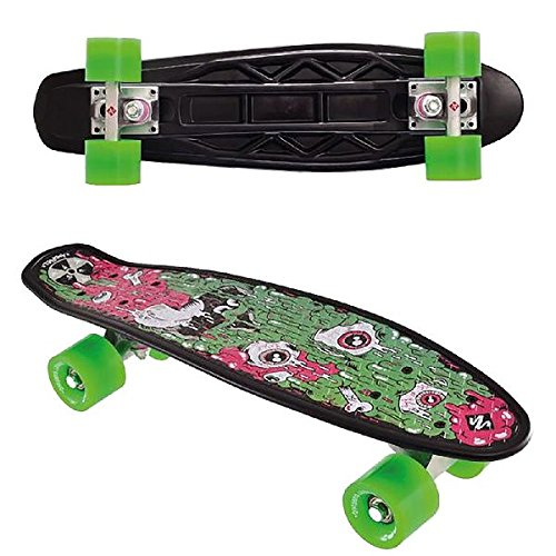 Streetsurfing Street Surfing Skateboard Fuel Board, Design: Melting, Weiß, 55 cm