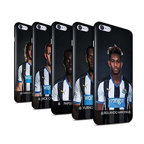 Ufficiale Newcastle United FC Custodia/Cover Duro Lucidare Snap On Caso/Cassa per Apple iPhone 6+/Plus 5.5 stampata con il disegno NUFC Calciatore 15/16 / 25pcs Confezione