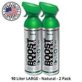 95% Pure Oxygen Supplement, Portable Canister of Clean Oxygen, Increases Endurance, Recovery, Mental Acuity and Performance (10 Liter Canisters, 2 Pack, Natural)