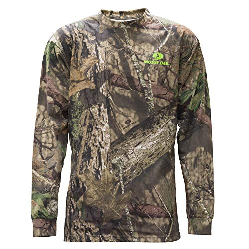 Sale!! Staghorn Mens All Over Camo Long-Sleeve Tee Shirt, Mossy Oak Breakup Country, X-Large