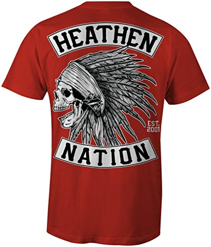 Heathen Men's Red Chief T-Shirt (Large)