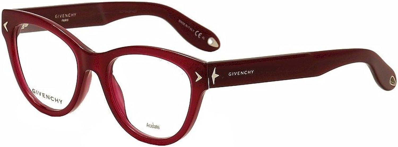 Givenchy Eyeglasses GV 0012 GV 0012 EGT Burgundy Cat Eye Optical Frame 50mm