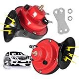 Super Loud 300DB Train Horn, 12V Electric Waterproof Motorcycle Snail Horn Air Horn for Trucks, Cars, Motorcycle, Bikes,Boats (2Pcs)