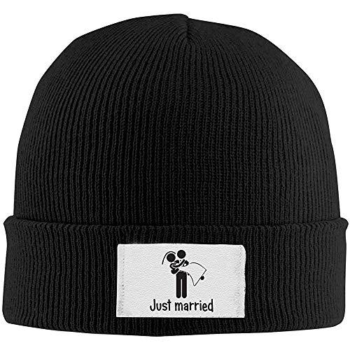 LinUpdate-Store Gebreide Beanie Cap, Adult Just Married Unisex Gebreide muts Cap, Hedging Winter buiten warme hoeden eenkleurig