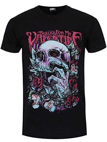 Bullet For My Valentine : Skull Red Eyes Tee-Shirt Noir