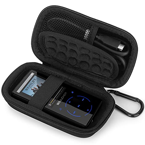 Estuche Funda para MP3 MP4 Reproductor Bluetooth,SUPEREYE AGPTEK Victure IHOUMI mibao MYMAHDI de Caja, Portátil Cubrir de Tapa Dura Caso Bolso Protectora (Black)