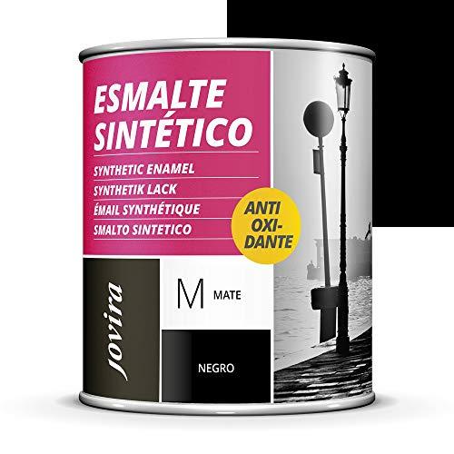 ESMALTE DIRECTO SOBRE OXIDO ANTIOXIDANTE MATE. Para la protección y decoración de superficies de madera, hierro y acero. (750 ml, NEGRO)