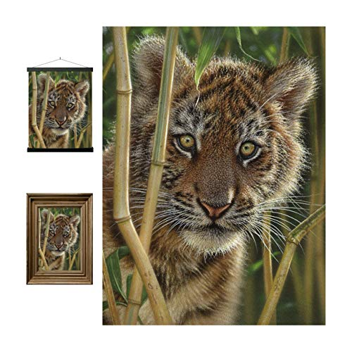 Discovery 3D LiveLife Lenticular Wall Art Prints from Deluxebase. Beautiful 3D Tiger Cub Poster. Original artwork licensed from renowned artist Collin Bogle