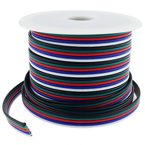 LTRGBW 40FT Calibre 18 RGBW LED Tira del Cable de Extensión de...
