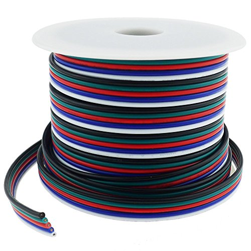 LTRGBW 40FT 18 Gauge RGBW LED Strip Verlengkabel 18AWG 5pin 5 Color Stand Wire voor RGBW RGBWW LED Ribbon LED Strip Lights(12M)