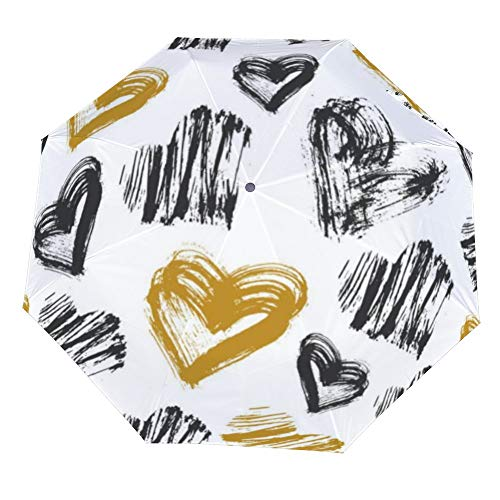 Premium Heart Shaped Wedding Umbrella Parasol White Rain /& Sun UV Protection