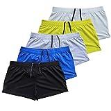 Muscle Alive Mens Bodybuilding Shorts 3' Inseam Cotton 5 Pcs Per Pack Size M
