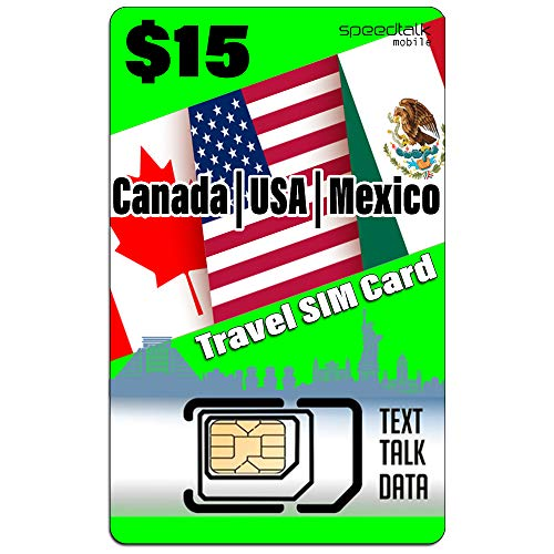 USA Canada Mexico Travel SIM Card- Talk Text Data - Compatible with All Unlocked GSM Phones (Best Mobile Tracker App In India)