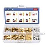 XTVTX 300 piezas Espaciador de separación hexagonal de latón con rosca M2 Tuerca roscada de acero...