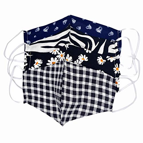 7 PCS Unisex Floral Paisley Triangle Face Cover Earloop Seamless Bandana Scarf Neck Gaiter for Men Women with 14 Pack Actived Carbon Filters Face Shield//Loop Scarf//Bandana//Balaclava