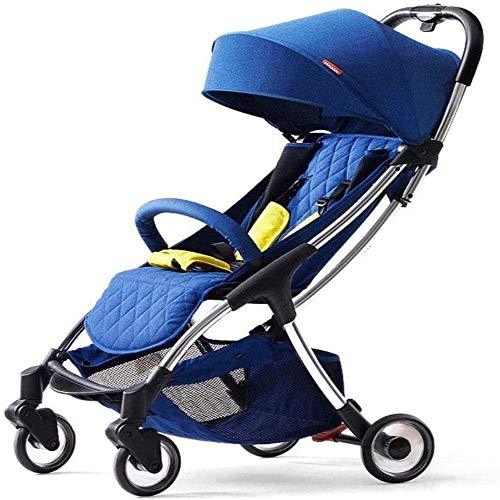 Buy Baby carriage Aluminum Alloy Strollers Can Sit and Lie Down and Fold Portable Children's Four-Wh...