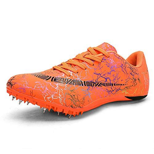 GLEYDY Unisex Zapatillas de Atletismo para Hombre Zapatillas de Atletismo Profesionales Atletismo Training Picos de Entrenamiento a Campo Traviesa 8 Zapatilla De Correr con Clavos,003,44EU