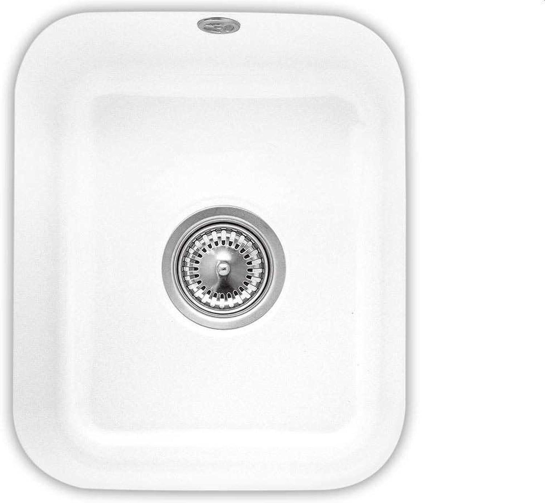 Villeroy & Boch Cisterna 45 Snow Weiß Wei Unterbau Keramik Becken Spüle Küche