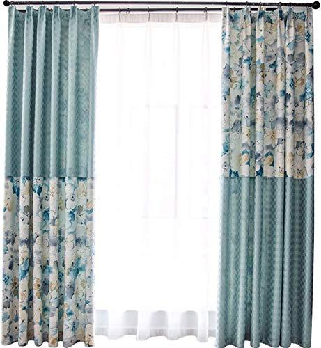 HXR gordijnen voor ramen, eenvoudige verwerking, moderne verduisteringsramen, voor woonkamer, stof, bedrukt, vloer aan het plafond, zonnedak, 200 A