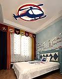 Sunny Lingt Ultra-mince plafond Hélicoptère Lampe Enfants Enfants Chambre lumières, LED moderne Chambre Nursery décorative d'appareils d'éclairage au plafond, for la princesse filles Kindergarden écla