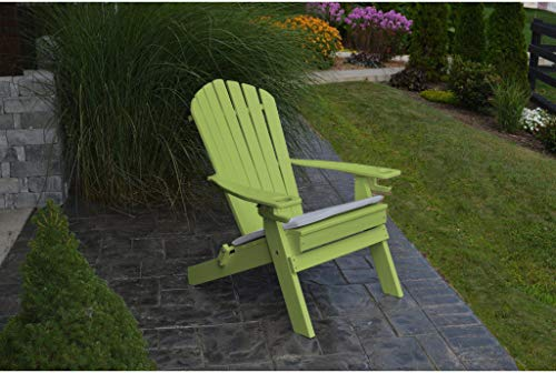 A&L Furniture Company Folding Recycled Plastic Adirondack Chair with Cupholders - Lead TIME to Ship 4 Weeks