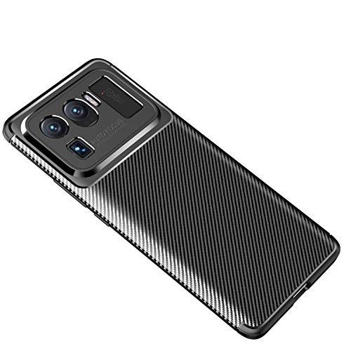 Cruzerlite Xiaomi Mi 11 Ultra hülle, Carbon Fiber Texture Design Cover Anti-Scratch Shock Absorption Case Schutzhülle für Xiaomi Mi 11 Ultra (2021) (Carbon Black)