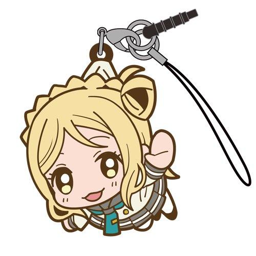 Love Live Sunshine Mari Ohara in Aquarium Costume COSPA Pinch Tsumamare Phone Strap Charm with Dust Plug Anime Art Collection