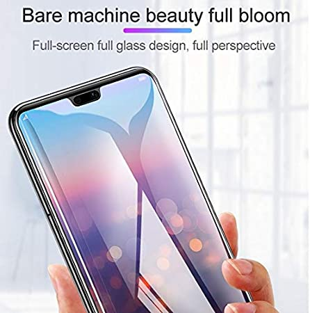 Glass Film Nokia X6 Black DESHENG Clear Screen Protector 25 PCS Scratchproof 11D HD Full Glue Full Curved Screen Tempered Glass Film for Nokia 6.1 Plus Color : Black