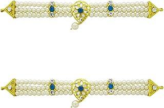 Anuradha Art Sky-Blue Colour Traditional Ganpati Jewellery Ganpati Jewellery For Murti