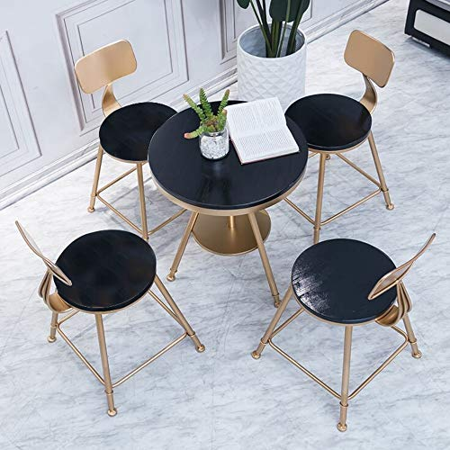 JU FU Tisch- und Stuhlkombination, modern minimalistischer Eisen Tisch und Stuhl Kombination Balkon Indoor-Freizeit kleine runder Tisch höhenverstellbar, 4 Kombinationen verfügbar