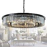 Meelighting Crystal Chandeliers Modern Contemporary Ceiling Lights Fixtures Pendant Lighting for Dining Room Living Room Chandelier D43' (12 Lights)