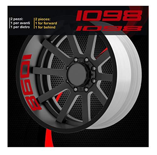 Ducati 0215 (031 Rouge) 1098 Panigale Autocollants pour roues intérieur