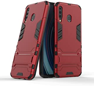 FanTing Case for Honor X10 Max 5G, Rugged and shockproof,with mobile phone holder, Cover for Honor X10 Max 5G-Red