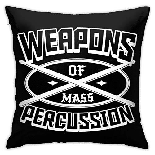Yuanmeiju Throw Pillow Cover Weapon of Mass Percussion Square Decorative Pillowcase Cushion Cover Lumbar Pillowcase 18x18 Inch