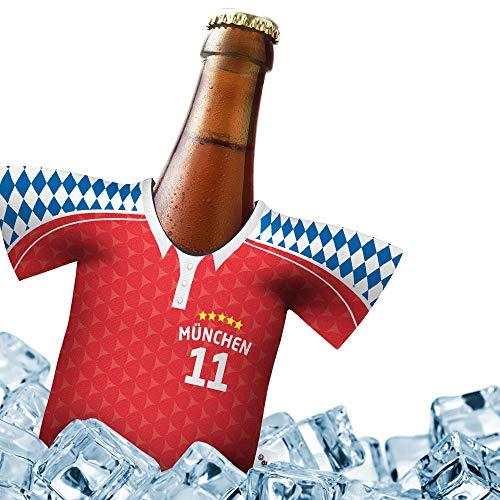 Herren Trikot 2019/20 kühler Home für Bayern München Fans | FUßBALL-Gott | 1x Trikot | Fußball Fanartikel Jersey Bierkühler by ligakakao.de