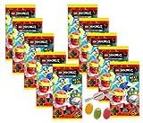 Blue Ocean Lego Ninjago Serie 5 Next Level - 10 Booster Tüten Trading Cards zusätzlich erhalten Sie 1 x Fruchtmix Sticker-und-co Bonbon