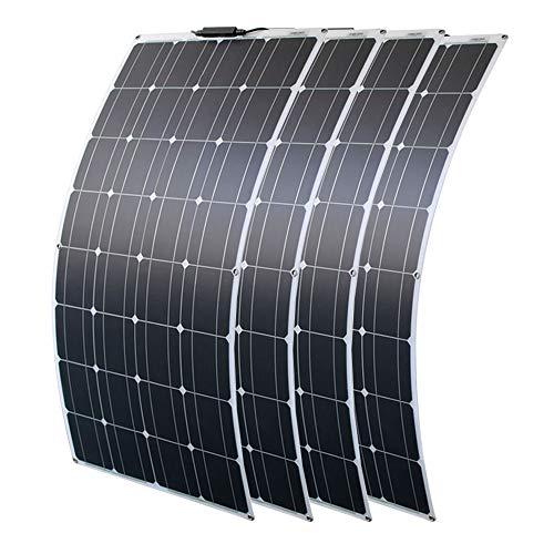 Solarpanel Flexible 12V 400W Sonnenkollektoren Solarmodul Outdoor Solar-Ladegerät für Wohnmobile, Dächer, Boot solarplatten für pool (400W)