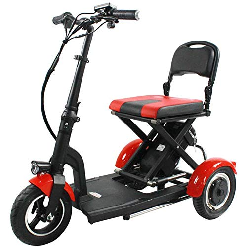 MMJC - Patinete eléctrico con tres ruedas para adulto, triciclo de 36...