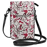 Jiger Women Small Cell Phone Purse Crossbody,Floral Blooming Branches With Fresh Flowers Spring Garden Stars