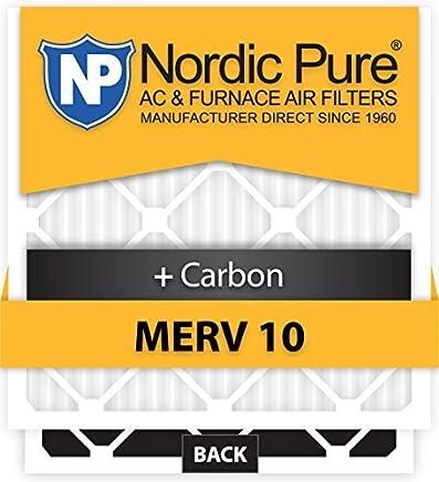 Nordic Pure 17x20x1CustomM10+C-12 MERV 10 + Carbon AC Furnace Filters 12 Piece [並行輸入品]
