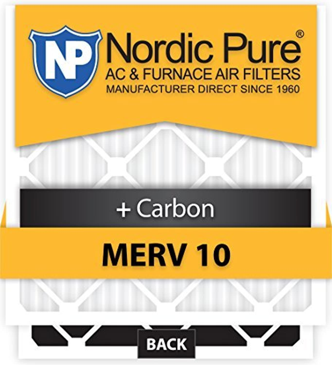 Nordic Pure 17x20x1CustomM10+C-12 MERV 10 + Carbon AC Furnace Filters 12 Piece [並行輸入品]