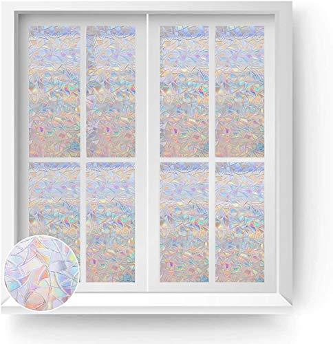 Película de Ventana de privacidad Opaca esmerilada película de Vidrio autoadhesiva Anti-Ultravioleta Utilizada para Pegatinas de Vidrio de Oficina en casa S 50x200cm