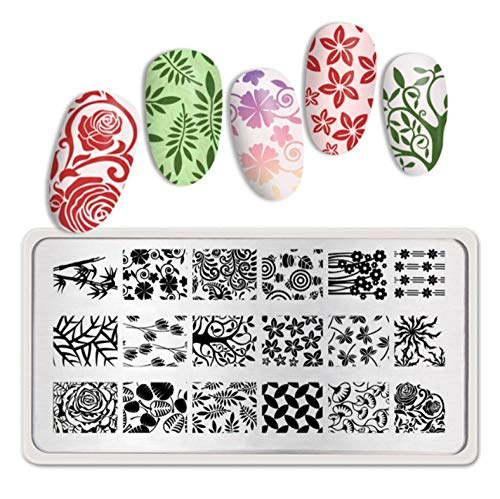Feuilles Thème Nail Art Stamp Template Image Plate Template Stamping Print Nail Design Spring Nail Art