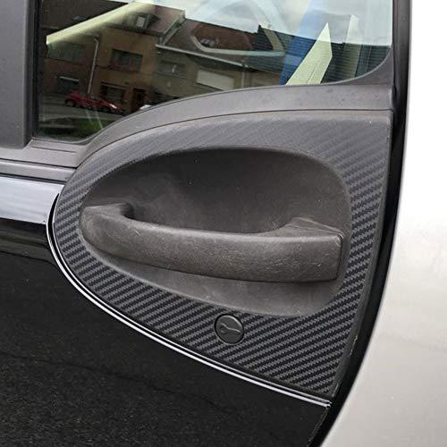 Ocamo Accesorios de diseño de automóviles Pegatina de protección de decoración de Puerta de Fibra de Carbono para Smart Fortwo Forfour