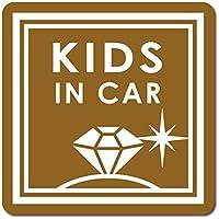 imoninn KIDS in car ステッカー 【マグネットタイプ】 No.26 ダイアモンド (ゴールドメタリック)