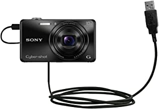 Hot Sync and Charge Straight USB Cable Compatible with Sony DSC-WX220 - Charge and Data Sync with The Same Cable. Built with Gomadic TipExchange Technology