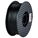 Bxvaty 1kg Spool PLA 3D Printer Filament Diameter 1.75mm Dimensional Accuracy +/- 0.02 mm Filament for FDM Printers or 3D Pen - Easy to Print (Black)