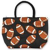 Urbanifi Sports Prints Utility Canvas Tote Bag Handbag Medium Mom (Football)