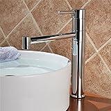 Qimeim grifo del fregadero del cuarto de baño grifo del lavabo grifo del lavabo grifo del lavabo de un solo agujero agua caliente y fría grifo del fregadero para el baño cocina grifo